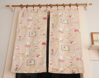 PAIR Barkcloth Curtain Panels Masculine Design