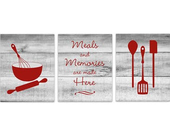 Kitchen Wall Decor CANVAS Signs Rustic Art Dining Room