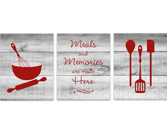 Kitchen Wall Decor CANVAS, Kitchen Signs, Rustic Kitchen Art, Dining Room  Wall Art