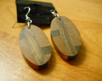 Mixed Exotic Wood Earrings - EDN009