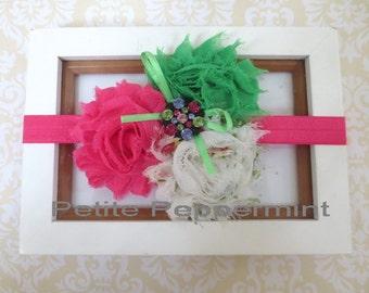 Baby headband,newborn headband,infant headband,toddler headband,Baby Girl Flower Headband,Baby Flower Headband,Shabby Flower Headband