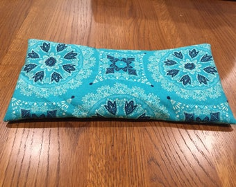 Aromatherapy eye pillow/bag - yoga-relaxation-meditation-sleep-washable cover-savasana-hot/cold pack-organic lavender/peppermint teach yoga