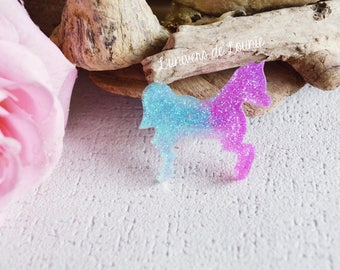 Brooch Unicorn / pony / glitter / badges