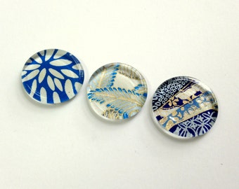 NEW - Magnets Set of 3 - Japanese Chiyogami - Choose from 4 Sets - Special Pricing and Limited stock available