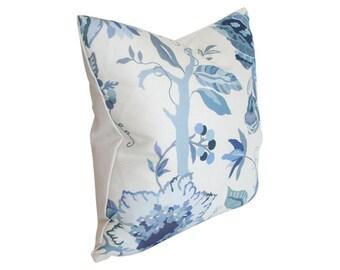 Sayre Blue - Aerin Lauder - Designer Pillow Cover - Custom Made-to-Order