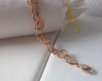 Red Silver bracelet Knot