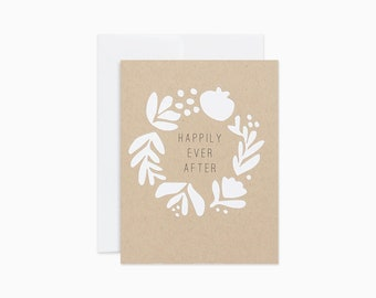 Happily ever after card | Wedding card | Engagement card | Paper cut card | GCC08