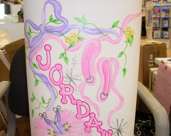 Hamper - Handpainted and Personalized - Ballet Theme