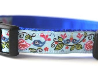 Love Birds Dog Collar Adjustable Sizes (XS, S)