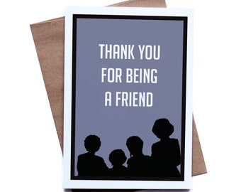 Golden Girls Greeting Card for Him Her I Love You Birthday Anniversary Boyfriend Girlfriend Husband Wife
