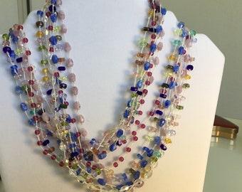 Czech Glass Bead Wrap Bracelet/ Necklace
