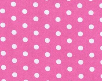 1 Yard - Pink Primrose Polka Dot by Pimatex for Robert Kaufman