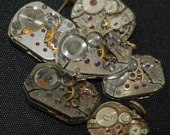 Vintage Antique Watch Movements Steampunk Altered Art RE 52