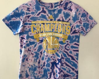 Tie Dye Adidas Golden State Warriors NBA Champions 2015 Kids Tshirt