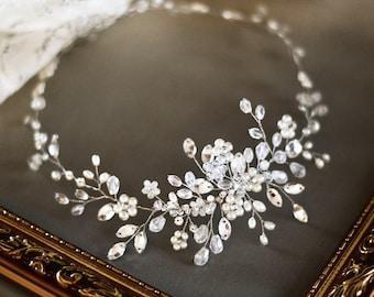 Crystal Bridal Hair Piece, Bridal Headpiece, Bridal Hair Halo, Crystal Wedding Hair Piece, Wedding Jewellery, Bridal headband