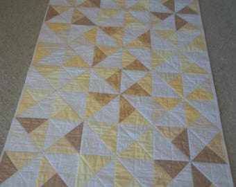Yellow and Beige Crib Quilt