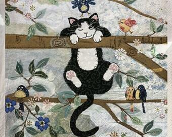 646 cat on branch Jane Crowter 1 33 X 33 X 4 design paper napkin