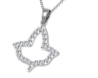 Alpha Kappa Alpha Ivy Leaf Sterling Silver Necklace(AKA-P014)