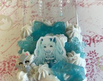 Made to Order Hatsune Miku Winter Fox Decoden Case