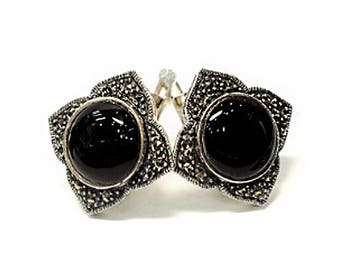 Stylish Handmade Lupine Earrings Black