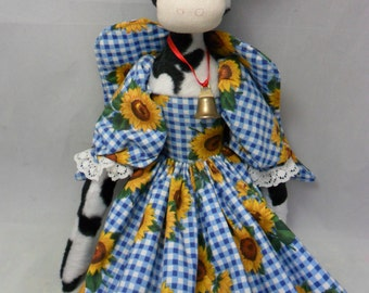 Holly cow cloth doll pdf pattern