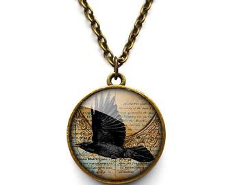 Raven In Flight Necklace (RR03)