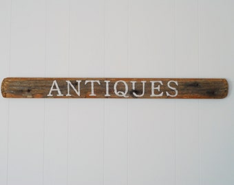 Antiques Reclaimed Wood Sign