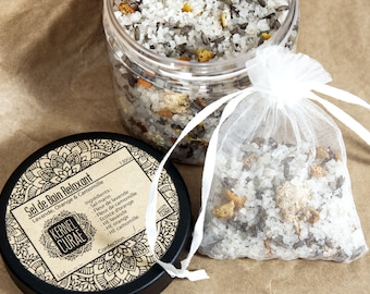 Relaxing bath salt: Orange, lavender and Chamomile