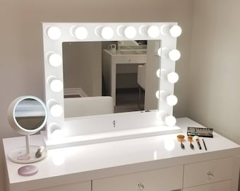 Dimmable hollywood impact lighted vanity mirror w led bulbs dimmable xl grand hollywood impact lighted vanity mirror free led bulbs w sliding dimmer dual outlets aloadofball Choice Image
