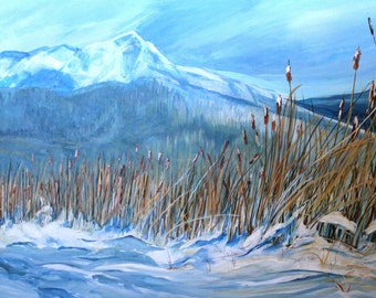 "Rushes in the Snow (24"" x 36"")   SOLD"