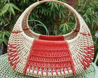 French vintage market basket.