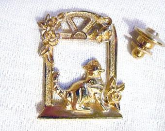 Vintage Cat et la souris broche, chat Vintage Pin, chats bijoux, bijoux Vintage par NewYorkMarketplace sur Etsy