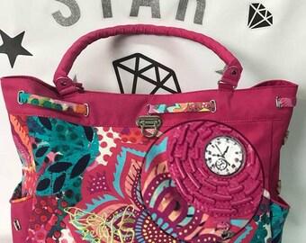 large handmade weekend bag