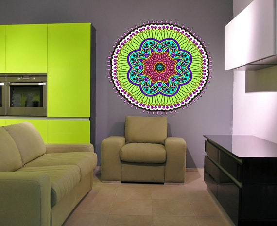 Mandala Meditation Yoga Wall Decal by WallDecalsIdeas