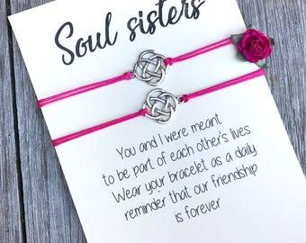 Soul sister bracelet, Soul sister gift, Soul sister jewelry, Bff bracelet, Bracelet set, Friendship bracelet, Best friend bracelet, A79