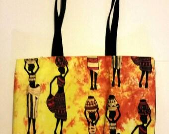 African Women Tote /African Ladies tote/African tote bag/large African tote/women's tote bags/African batik bag/African totes/women's totes