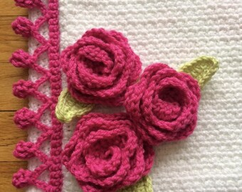 Cabbage Rose Blanket PATTERN - Crochet Your Own Blanket