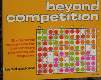 """Vintage Book """"Beyond Competition"""" by sid sackson 1977"""