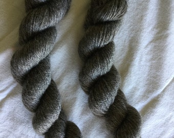 Natural grey Border Leicester yarn