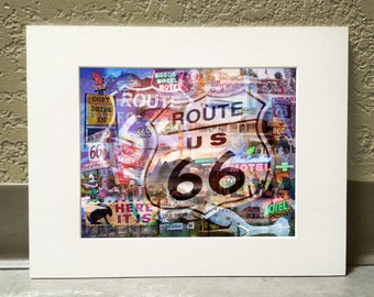 The Mother Road 11 x 14 Matted Print - Route 66