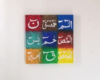 Loh e Qurani. Islamic Calligraphy hand painted islamic art toronto
