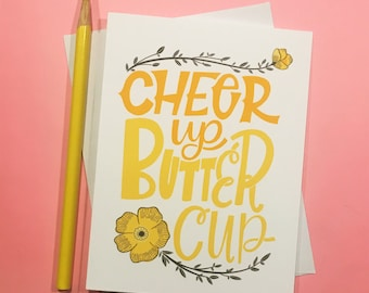 Cheer Up Butter Cup Card