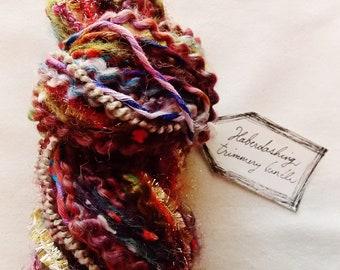 Hippie Dreams earth tone rainbow trims pom striped twine tinsel Novelty Fiber Yarn Sampler Bundle