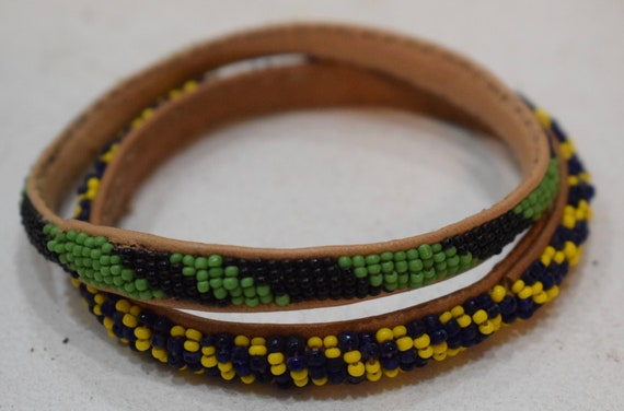 African Bracelets Beaded Colorful Bangles Mali Handmade Men Women Childs Beaded Bracelet