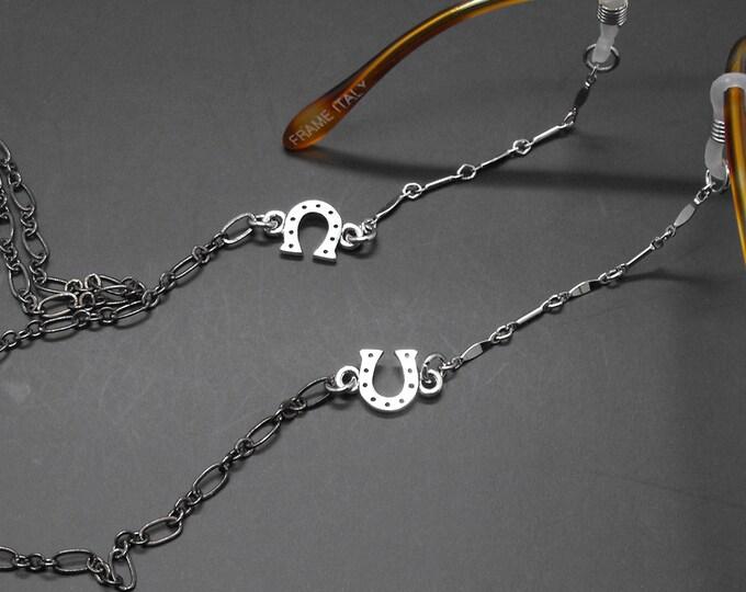 Horseshoe Eyeglass Chain Lucky Horse Lover Gift Equestrian Western Glasses Holder Eye Glass Lanyard