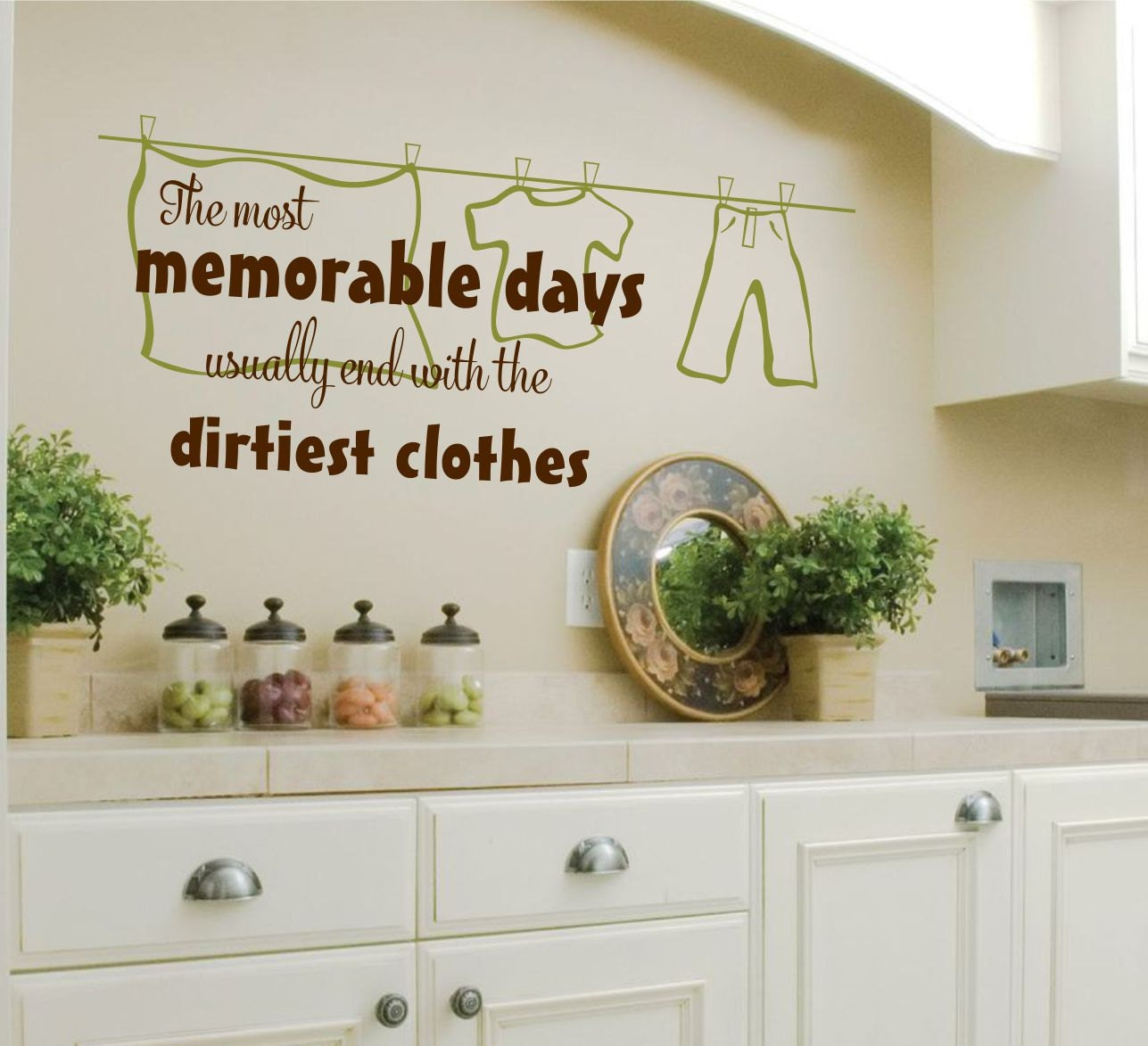 Laundry Room Wall Decal   Laundry Vinyl Wall Decal   Laundry Room Decor    The Most Memorable