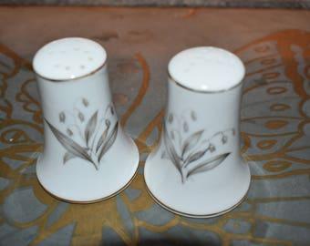 Kayson's Fine China Salt & Pepper Shakers/ Porcelain Salt and Pepper/ Vintage Salt and Pepper Shakers/ Fine China Shakers/ Retro Fine China