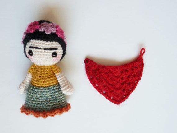 Amigurumi Frida Kahlo : Frida kahlo doll handmade frida kahlo doll cute pocket