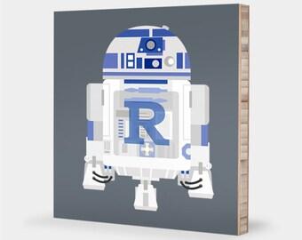 Star Wars art | R2D2 - Star Wars wall print, Star Wars baby R2D2, Star Wars kids decor, Star Wars decor, R2D2 decor, Star Wars nursery ABC