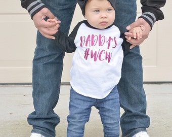 Toddler Girl, Daddy WCW, #wcw, Daddy's Girl Shirt, Daddys Princess, baby girl, toddler girl shirt,  daddy's wcw shirt, toddler girl